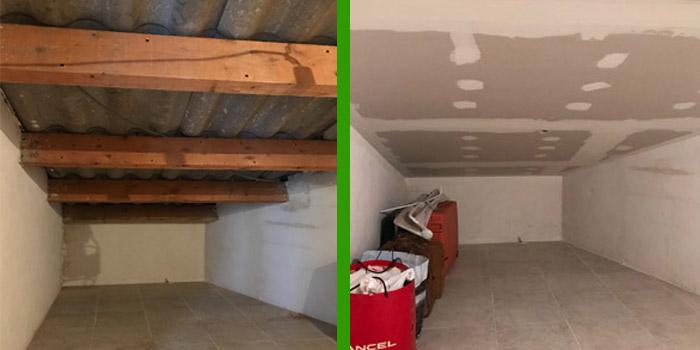 isolation d 39 un plafond sous rampant en laine de roche renovea. Black Bedroom Furniture Sets. Home Design Ideas