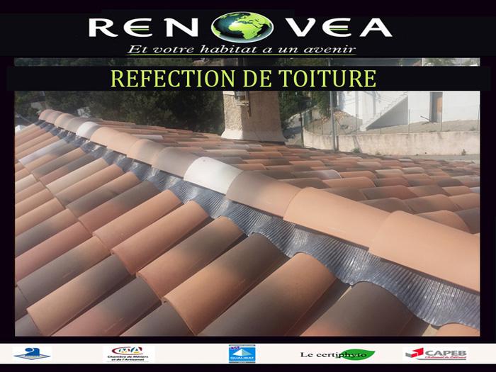 Réfection d'un faîtage toiture