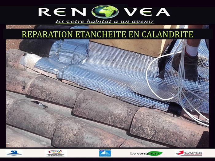 réparation d'étanchéité de cheminée en calandrite