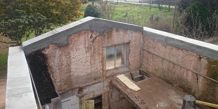 Création d'une arase de toiture