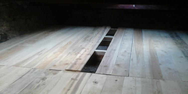 Création d'un plancher dans des combles perdus