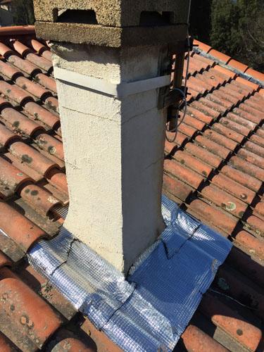 Réparation de abergement de cheminée en calandrite