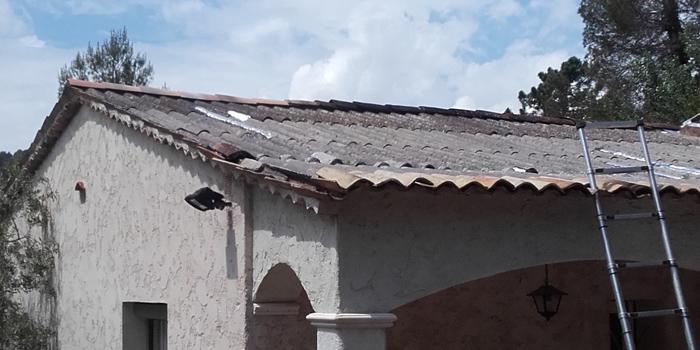 Photo du toit avant les travaux de toiture
