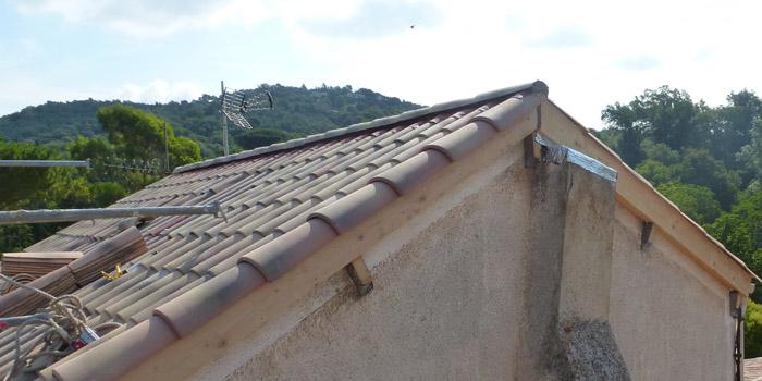 Réfection de toiture d'une maison de village sur Mougins -Alpes maritimes