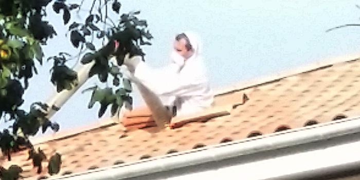 Isolation d'une toiture par soufflage