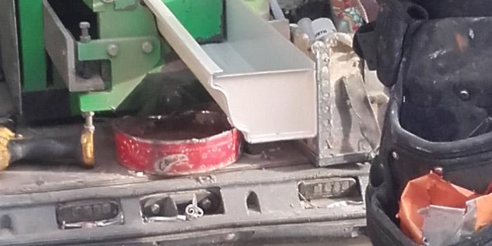 Creation fond de naissance gouttière en aluminium