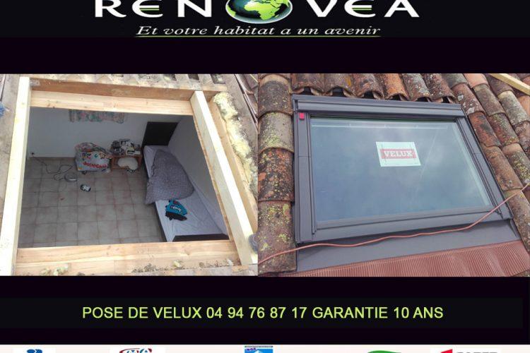 Rénovea, Pose de Velux sur toiture