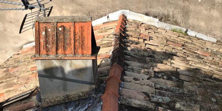ancienne toiture avant le démontage