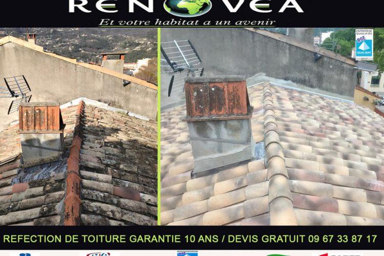 Réfection de toiture sur Tourrettes sur loup  – Alpes Maritimes