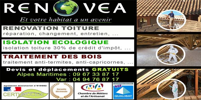 RENOVEA, votre spécialiste de la rénovation toiture, de l'isolation écologique et du traitement de charpente
